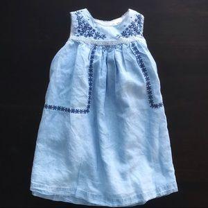 Baby B'gosh Toddler Girl Denim Sleeveless Dress 3T